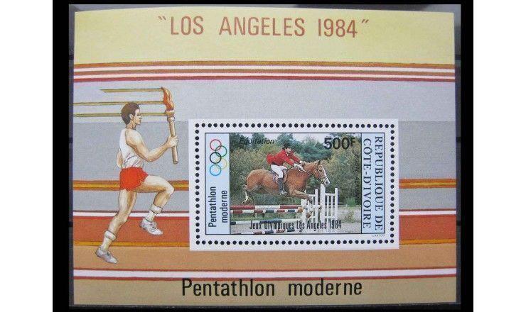 """Кот-д'Ивуар 1984 г. """"Летние Олимпийские игры, Лос-Анджелес"""""""