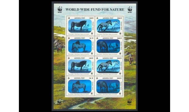 """Монголия 2000 г. """"Всемирный фонд дикой природы: Лошадь Пржевальского"""" голограмма"""