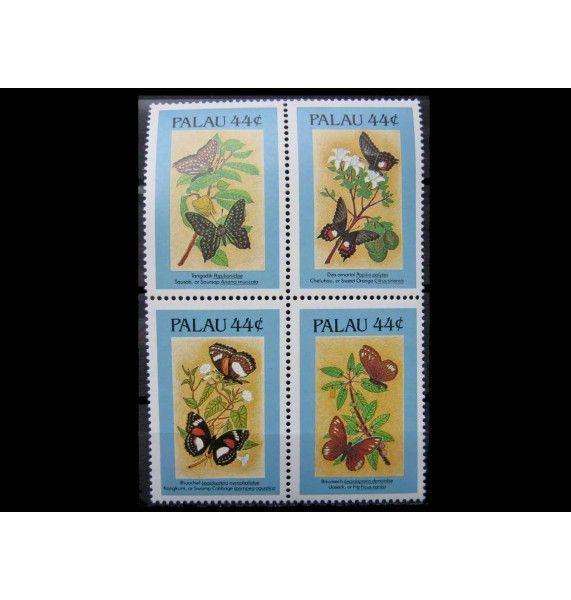 """Палау 1987 г. """"Бабочки и растения"""""""