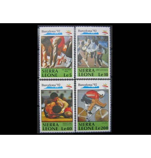 """Сьерра-Леоне 1990 г. """"Летние Олимпийские игры 1992, Барселона"""""""