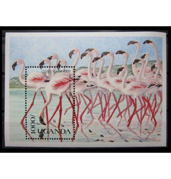 """Уганда 1990 г. """"Местные птицы"""""""