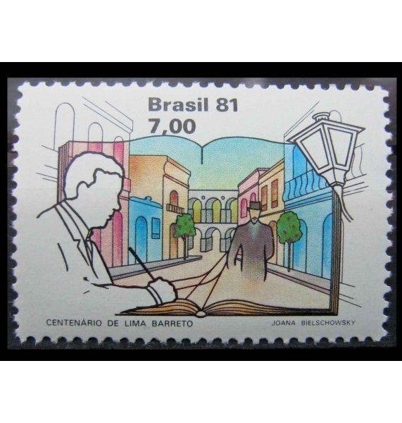 """Бразилия 1981 г. """"100-летие Лима Баррето"""""""