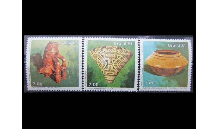 """Бразилия 1981 г. """"Международный день музея: Музей естественной истории"""""""