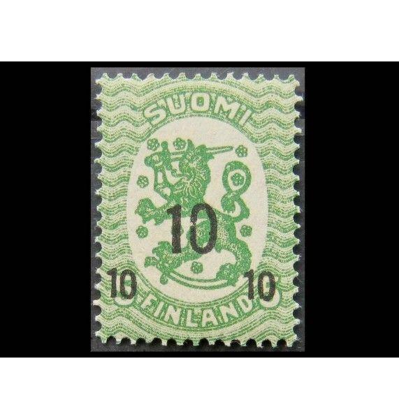 """Финляндия 1919 г. """"Герб"""" (надпечатка)"""