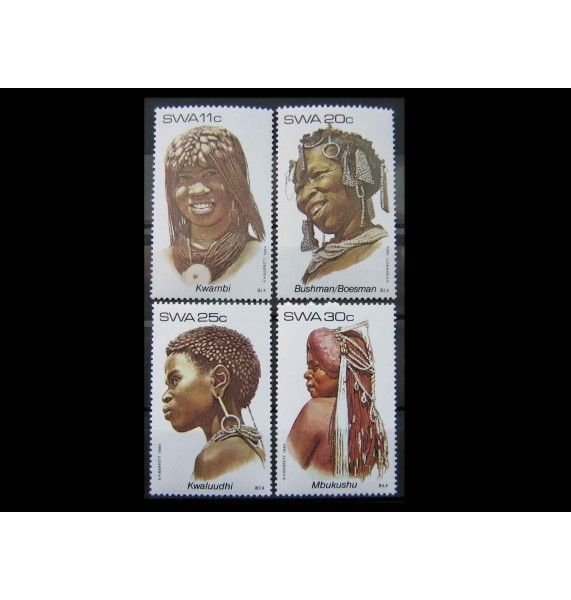 """Юго-Западная Африка 1984 г. """"Женские головные уборы"""""""