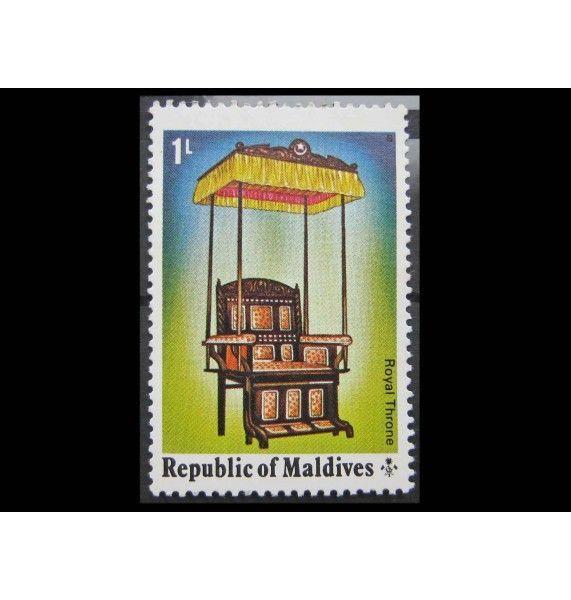 """Мальдивы 1975 г. """"Произведения искусства и здания"""""""