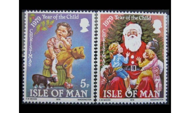 """Остров Мэн 1980 г. """"Международный год ребенка; Рождество"""""""