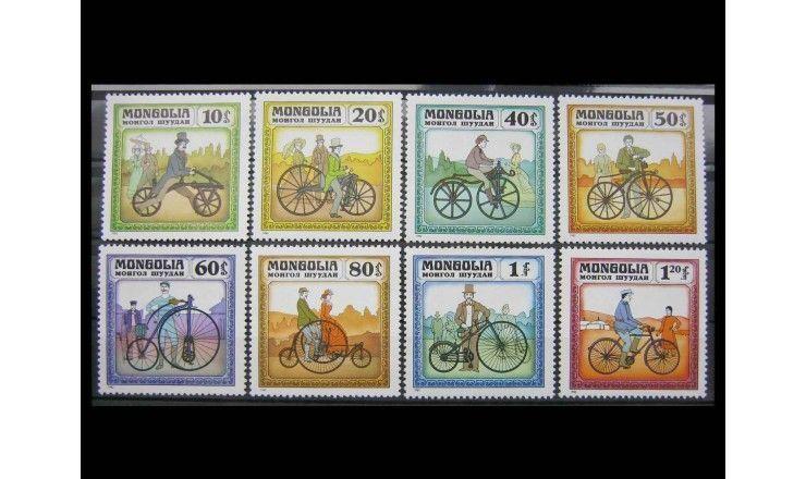 """Монголия 1982 г. """"История велосипеда"""""""