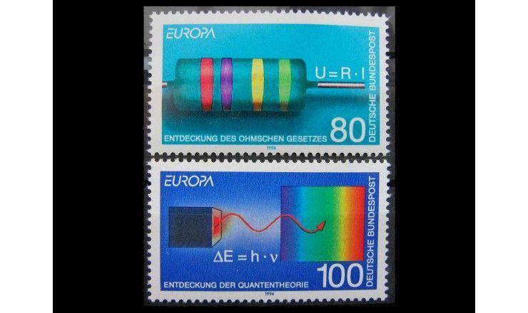 """ФРГ 1994 г. """"Европа: Открытия и изобретения"""""""