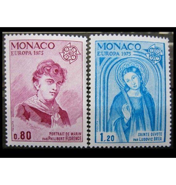"""Монако 1975 г. """"Европа CEPT: Картины"""""""