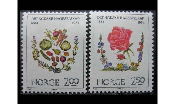 """Норвегия 1984 г. """"100 лет Норвежскому обществу садоводства"""""""