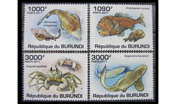 """Бурунди 2011 г. """"Морские животные"""""""