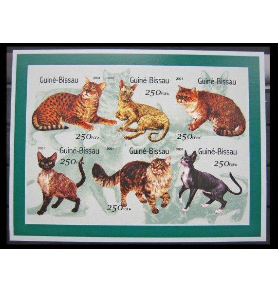 """Гвинея-Бисау 2001 г. """"Кошки"""""""