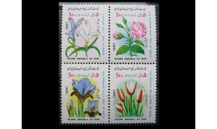 "Иран 1987 г. ""Навруз: Цветы"""