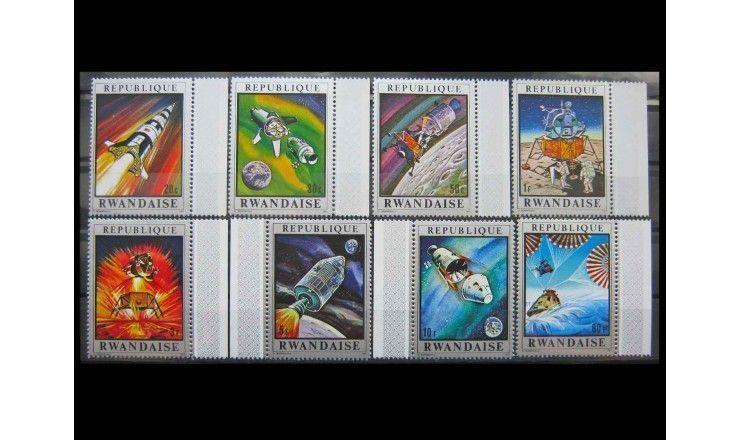 """Руанда 1970 г. """"Космический полет «Аполлон-13»"""""""