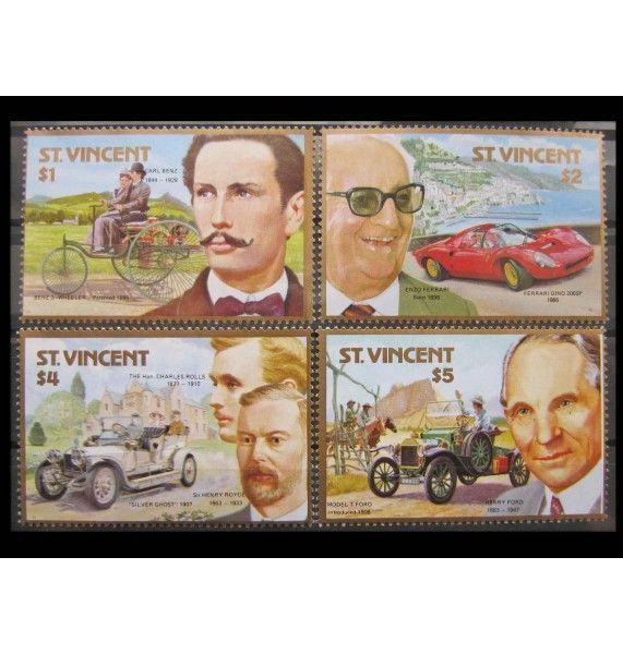 """Сент-Винсент и Гренадины 1987 г. """"100 лет автомобилю"""""""