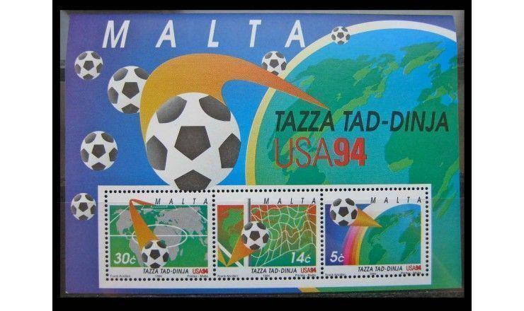 """Мальта 1994 г. """"Чемпионат мира по футболу, США"""""""