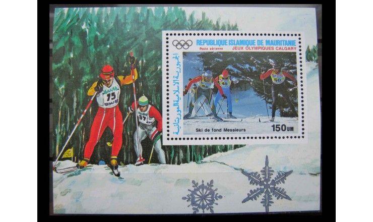 """Мавритания 1987 г. """"Зимние Олимпийские игры 1988, Калгари"""""""