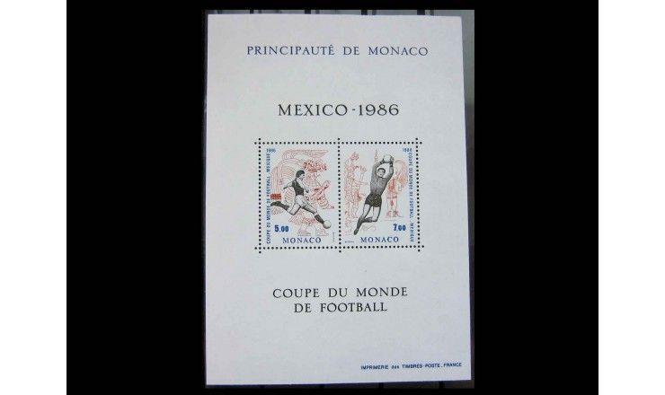 """Монако 1986 г. """"Чемпионат мира по футболу, Мексика"""""""