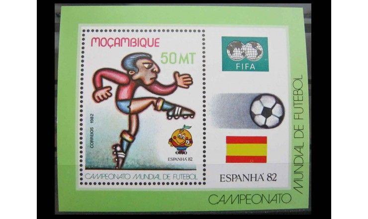 """Мозамбик 1982 г. """"Чемпионат мира по футболу, Испания"""""""