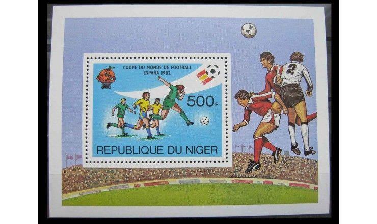 """Нигер 1981 г. """"Чемпионат мира по футболу, Испания 1982"""""""