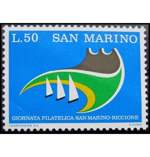 """Сан-Марино 1974 г. """"Филателистический день Сан-Марино - Риччоне"""""""