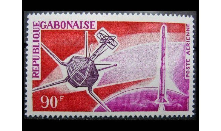 """Габон 1966 г. """"Французское освоение космоса"""""""