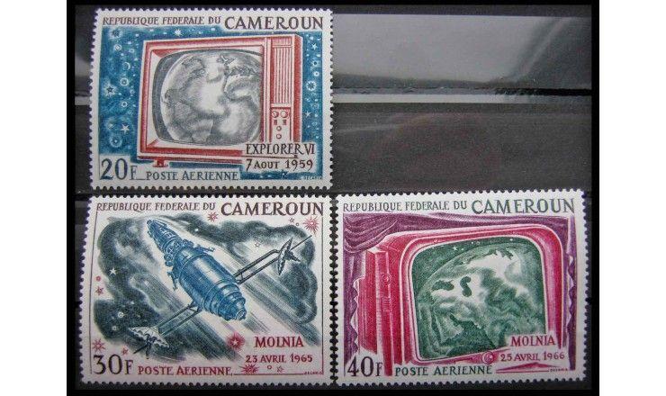 """Камерун 1968 г. """"Спутники связи и спутниковые радиоизображения"""""""