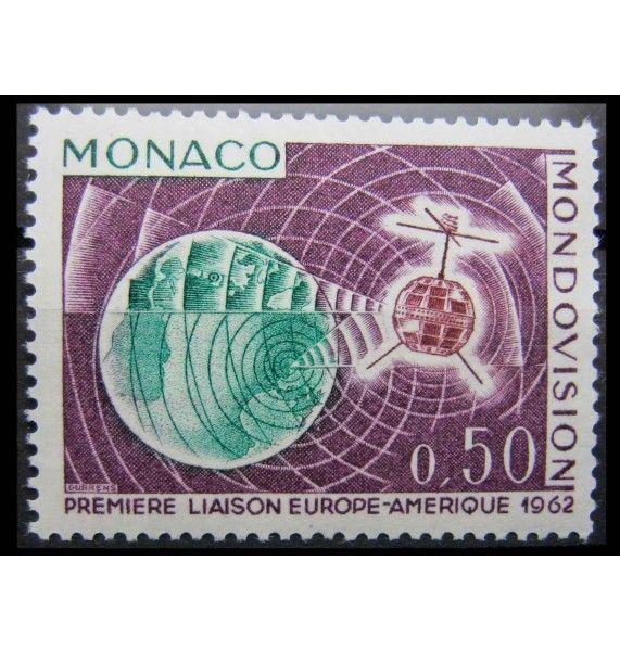 """Монако 1963 г. """"Первая прямая ТВ трансляция Америка - Европа спутником «Telstar»"""""""
