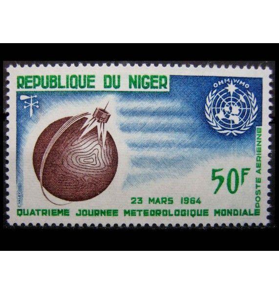 """Нигер 1964 г. """"Всемирный день метеорологии"""""""