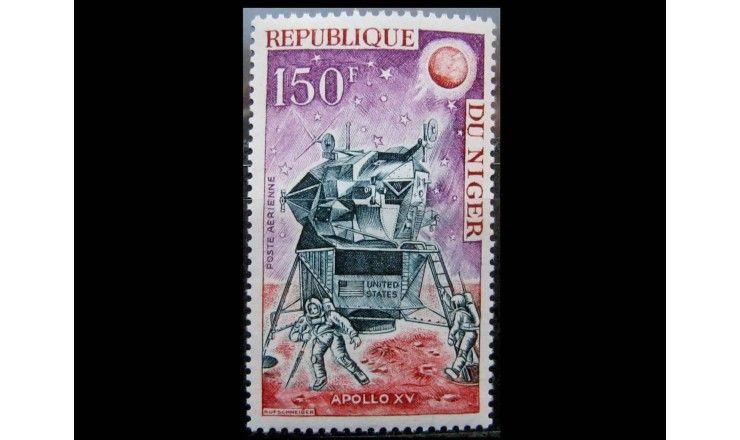 "Нигер 1971 г. ""Пилотируемая посадка на Луну «Аполлон-15»"""