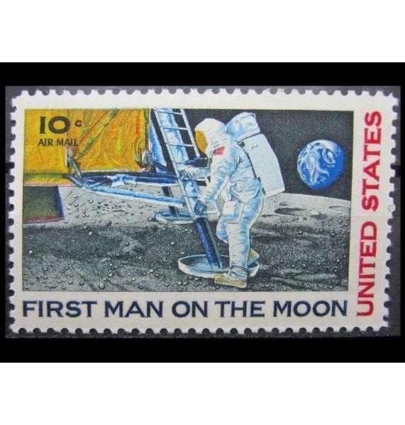 """США 1969 г. """"Первая пилотируемая посадка на Луну"""""""