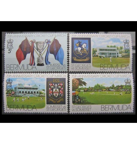"""Бермудские Острова 1976 г. """"Крикет"""""""