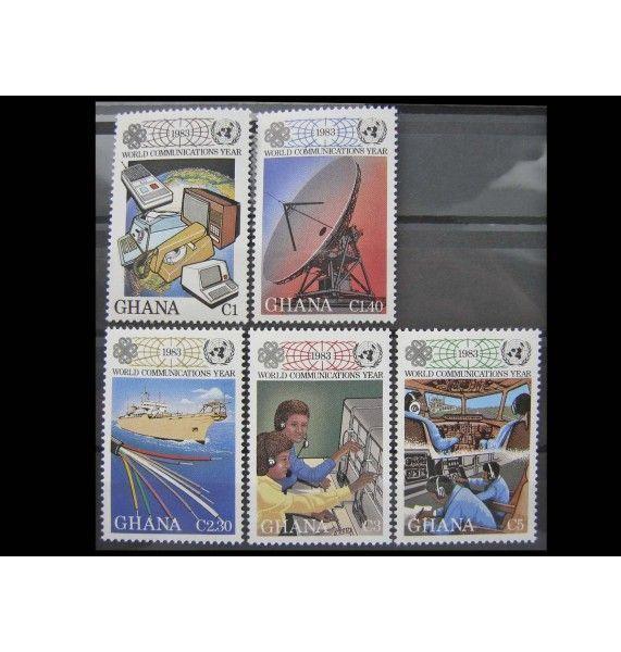 """Гана 1983 г. """"Всемирный год связи"""""""