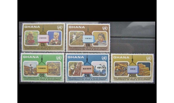 """Гана 1985 г. """"Конференция ООН по торговле и развитию"""""""