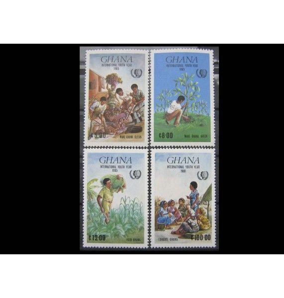 """Гана 1985 г. """"Международный год молодежи"""""""