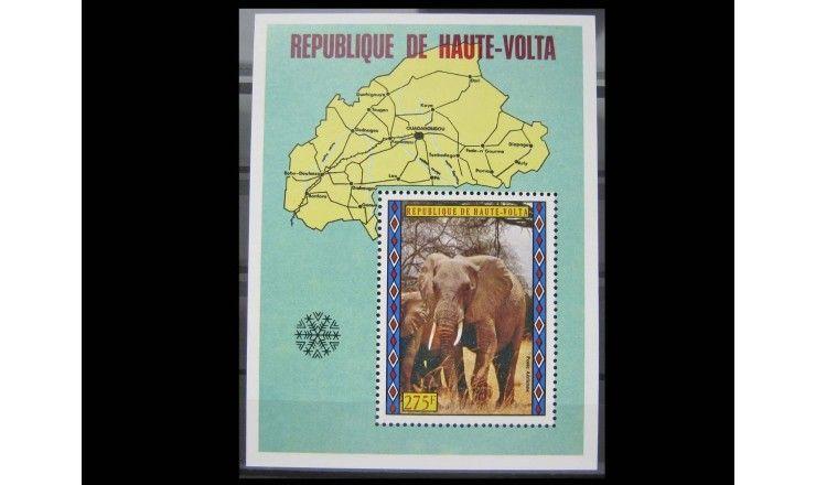 """Республика Верхняя Вольта 1973 г. """"Туризм, Фауна"""""""