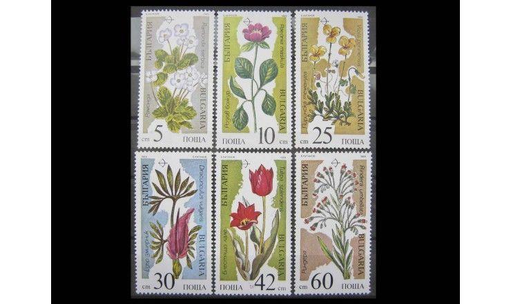 """Болгария 1989 г. """"Исчезающие растения"""""""