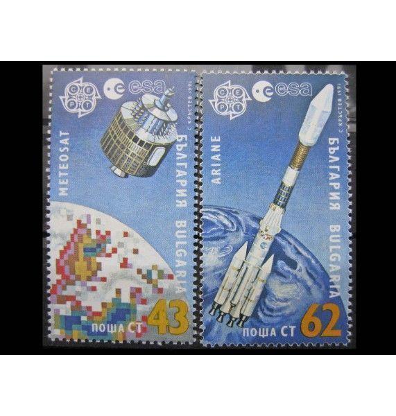 """Болгария 1991 г. """"Европа: Космические полеты"""""""