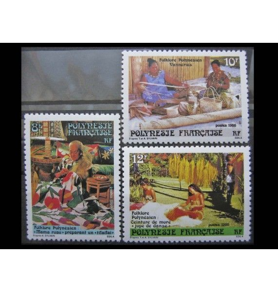 """Французская Полинезия 1986 г. """"Традиционные ремесла"""""""