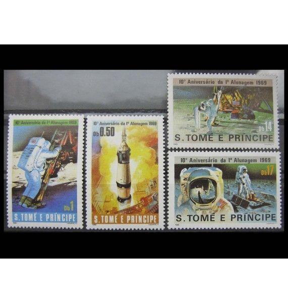 "Сан-Томе и Принсипи 1980 г. ""10-летие первой посадки на Луну"""