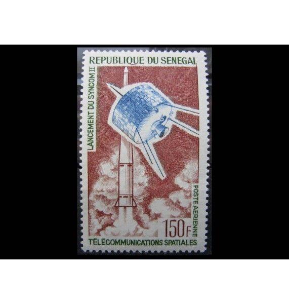 "Сенегал 1964 г. ""Запуск спутника связи «Синком-II»"""