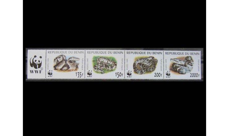 """Бенин 1999 г. """"Всемирный фонд дикой природы: Питоны"""""""