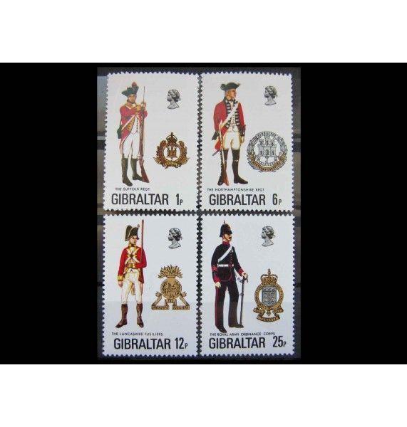 """Гибралтар 1976 г. """"Униформа"""""""