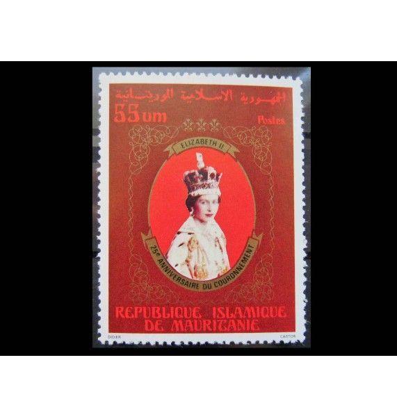 """Мавритания 1978 г. """"25-летие коронации королевы Елизаветы II"""""""