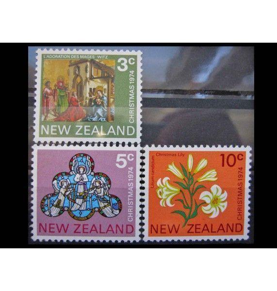 """Новая Зеландия 1974 г. """"Рождество"""""""