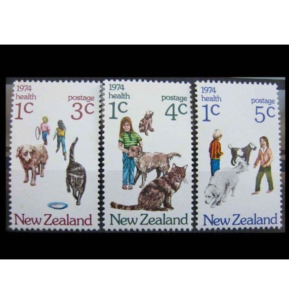 """Новая Зеландия 1974 г. """"Здоровье: Дети и домашние животные"""""""