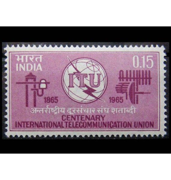 """Индия 1965 г. """"100 лет Международному союзу электросвязи (ITU)"""""""