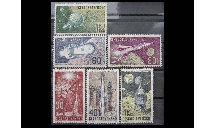 """Чехословакия 1962 г. """"Космические исследования"""""""