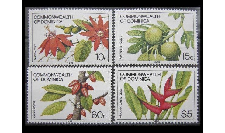 """Доминика 1981 (1985) г. """"Цветы и фрукты"""""""